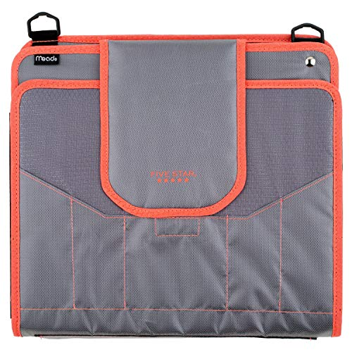 Five Star Sewn Zipper Binder, 2 Inch 3 Ring Binder With 4 Inch Capacity, Assorted Colors, Color Selected For You, 1 Count (28044)