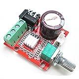 HiLetgo PAM8610 Mini Stereo AMP Audio Amplify Board Digital Portable Ampli Module 10W+10W Dual Channel Amplifier Class-D 12V DC