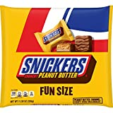 Snickers, Crunchy Peanut Butter Squared Fun Size Chocolate Candy Bars Bag, 11.5 oz