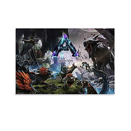 FGHB Ark Survival Evolution Poster, dekoratives Gemälde, Leinwand, Wandkunst, Wohnzimmer, Poster, Schlafzimmer, Malerei, 30 x 45 cm