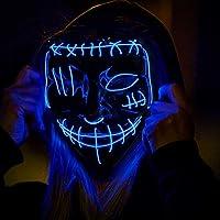 Kizsbro LED Light-Up Mask with 3 Modes LED Light Up Halloween Mask