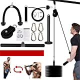 Fitness LAT and Lift Pulley System Professional Pulley Cable Machine Muscle Strength Fitness Equipment for Biceps Curl, Triceps Extensions Workout (Max Load 300lbs)