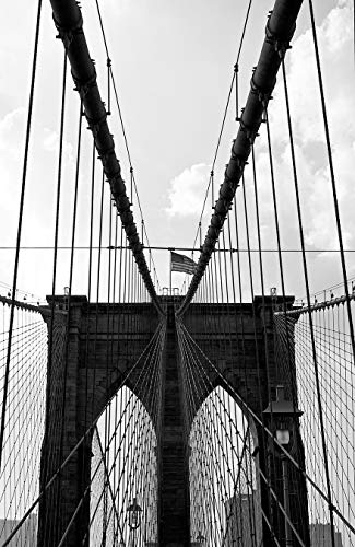 Bilderdepot24 Papier Peint intissé - Brooklyn Bridge - New York - 65x100 cm - pâte Inclus - Vente directe Fabricant!