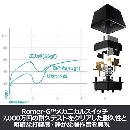 ロジクールK840メカニカルキーボード108フルキーROMER-G26キーロールオーバーアルミニウムキーボードUSB有線国内正規品2年間無償保証