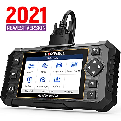 FOXWELL Obd2 Scanner, Transmission ABS Engine Airbag Scan Tools, NT614 Elite Car Diagnostic Tool with EPB Oil Light Reset, Check Light Engine, Diagnostic Scanner for Car, Free Carrying Case