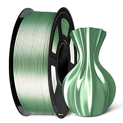 SUNLU PLA Silk Bronze Filament 1.75mm 3D Printer Filament, 1KG 2.2 LBS Spool 3D Printing Material, Shiny Metallic PLA Silk Filament