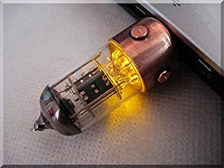 ハンドメイド 8GB オレンジ Pentode ラジオ管 Radio Tube メモリドライブ USB Flash Drive with stand スタンド付き. Steampunk スチームパンク ####### (Tags: Sandisk Ultra Cruzer FIT Stick スティック 記憶装置 Storage Memory. Handmade オーセンティック Authentic 手作りの製品 の手作り Retro レトロ Vintage ヴィンテージ Gadget ガジェット Device. For Present 現在 Gift ギフト. For Computer コンピュータ Tablet PC Mac PlayStation Xbox Smart TV)