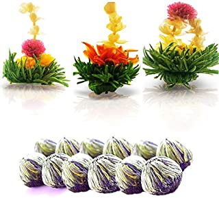 Tea Beyond Flowering Tea Gift Set Zen 12 Packs White Blooming Tea Herbal Iced or Hot Blooming Tea White Tea Gift Workout Weight Management 100% Natural Vegan Friendly Non-GMO No additives