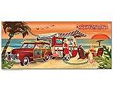 Vintage Beach Camper Christmas Cards, Package of 8