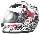 WinNet Casco da moto integrale femminile o maschile omologato C.E, Taglia: M