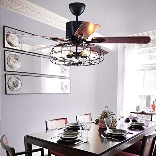 Ventiladores De Techo Lámpara Westinghouse Ventilador De Techo Con Control Remoto 5 Palas 5 Luces E27 Ventilador Industrial Lámpara Para Dormitorio Sala Comedor