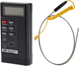 Almencla Medidor TES - 1310 con Sensor de Temperatura Empuñadura Pequeña Tipo K Portátil 1500 mm 0-1300°C