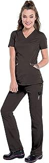 Smitten Women's Scrub Set Bundle- S107003 V-Neck Top & S207003 Cargo Pant & Marc Stevens Badge Reel