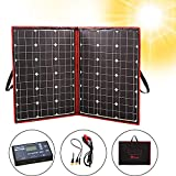 DOKIO 100 Watts 12 Volts Monocrystalline Foldable Solar Panel with Charge Controller with Dual USB...