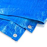 Abdeckplane 10 x 12 Meter - 60 g blau