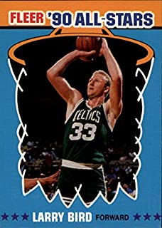 1990-91 Fleer All-Stars #2 Larry Bird NBA Basketball Trading Card