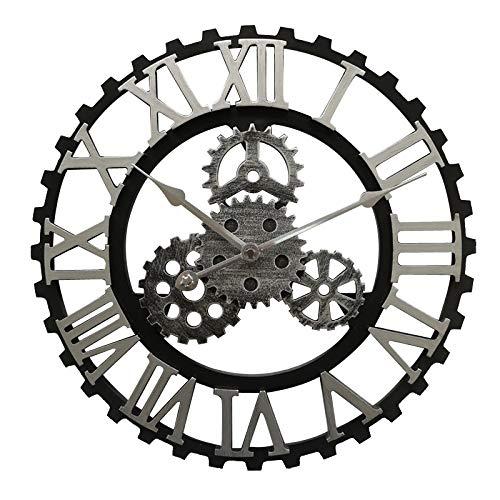 LUOYLYM American Retro Gear Wanduhr Industrielle Wind Wanduhr Wohnzimmer Esszimmer Dekoration Kreative Wanduhr Uhr