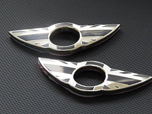 Emblem für Pkw-Türknopf Grey England CP0004 für Mini Cooper, S, One, Roadster, Clubman, Coupe