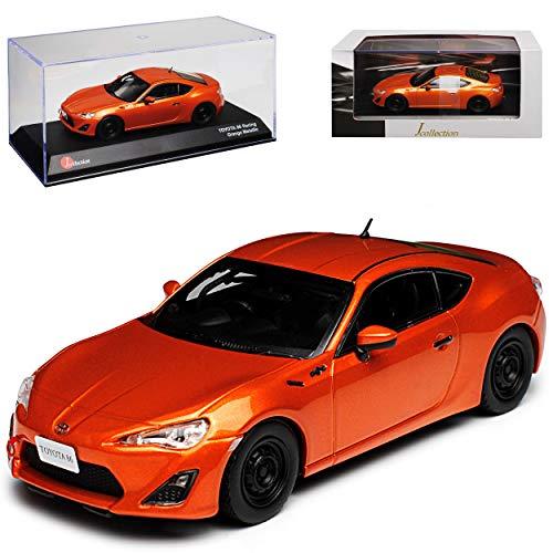 Kyosho Toyota GT86 Racing Orange Metallic Ab 2012 1/43 J-Collection Modell Auto mit individiuellem Wunschkennzeichen