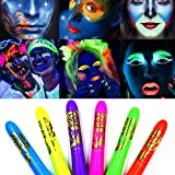 Luminous Face Paint Crayons,Washable,Halloween Making up,Safe, Non-Toxic Body Painting Crayons Kit, Easy to Use and Wash...