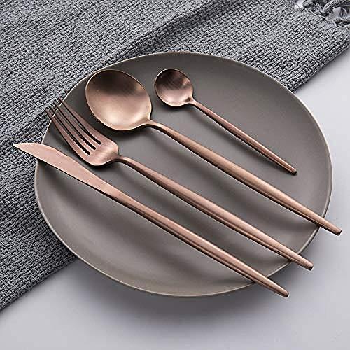 tableware-GQ Juego de Cubiertos Oro Rosa   Juego de...