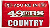 NFL Land Flagge mit Grommetts, 3x 5-Foot, 94105B, San Francisco 49ers, 3' x 5'