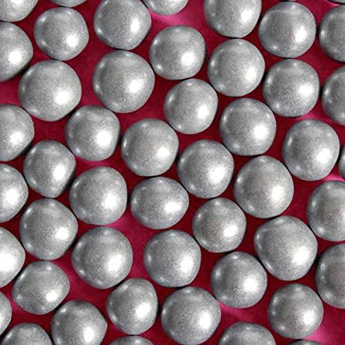 Perlas comestibles plateadas de 8 mm de color natural, para tartas, 60 g / 2,1 oz, apto para veganos Halal Kosher Gluten sin lácteos mezclados regalos para hornear