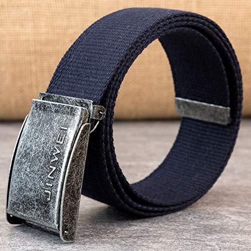 LZLNK Cinturón Unisex Retro Press Buckle Hombres Cinturón Casual Cowboy Pants Hombres y MujeresModa Simple Canvas Belt