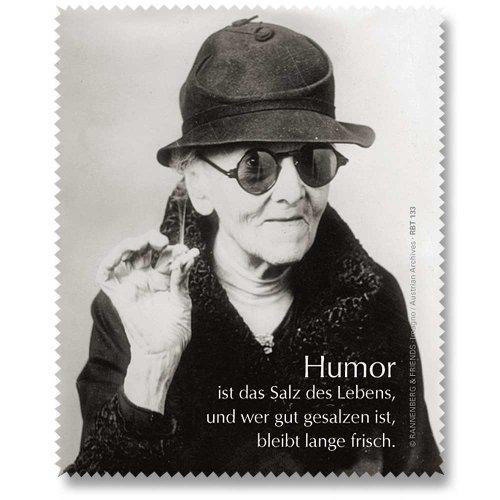 Brillenputztuch Putztuch Displayputztuch Humor ist das Salz 17,5 x 11 cm