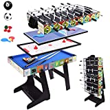 ALPIKA 4FT 4 in 1 Muliti Sports Game Table, Folding Combo Table