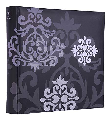 Quantio HENZO Fotoalbum oder Einsteckalbum Baroque - für 200, 300 oder 500 Fotos 10 x 15 cm, Schwarz, Ausführung:Einsteckalbum 200 Bilder