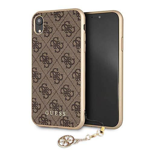 Guess - Funda Trasera Original Charms Hard Case 4G para iPhone XR - Marron