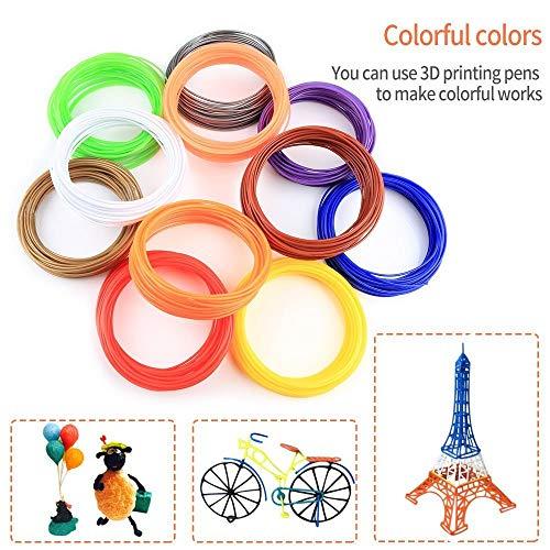 3D Stift Filament PLA, 20 Farben, je 10M – 3D Pen PLA Filament 1,75mm, 3D Stift Farben Set für ODRVM, Tecboss, Lovebay, 3D Stift and 3D Druck Stift - 5