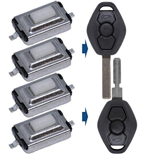 4X Mikrotaster 2 polig 3 x 6 x 2.5 mm für Mercedes, Alfa Romeo, BMW, Citroen, FIAT, Land Rover, Lexus, Mini, Nissan, Peugeot, Smart, Toyota Schlüssel Tasten Mikro Schalter Drucktasten