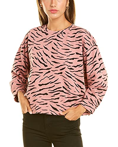 VELVET BY GRAHAM & SPENCER Women's Hilda Zebra Fleece Sweatshirt,...