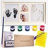 Kit cadre pour empreintes de bébé en argile et encre-moule à lettres et chiffres avec 6 encres et...