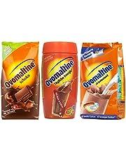 Ovomaltinepoeder 3 st., Klassieker poeder, chocoladepoeder, blikje Cassic-poeder, 2x500g, 1x450g
