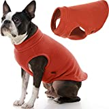 Gooby Stretch Fleece Vest Dog Sweater - Pumpkin, Large - Warm Pullover Fleece Dog Jacket - Winter Dog Clothes for Small Dogs Boy or Girl - Dog Sweaters for Small Dogs to Dog Sweaters for Large Dogs