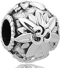 CharmSStory Om Symbol Love Yoga Lotus Flower Charm Beads For Charm Bracelets