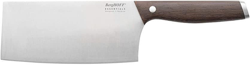 Cleaver Knife With Wooden Handle Dark Wooden 16.5centimeter