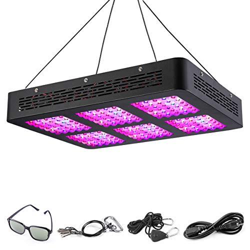 HOFOUND LED Pflanzenlampe 900W Grow Light Pflanzenlicht Vollspektrum Grow Lampe mit IR UV Pflanzenleuchte Wachstumslampe für Pflanzen Zimmerpflanzen Garten Gewächshaus Hydroponik und Blumen