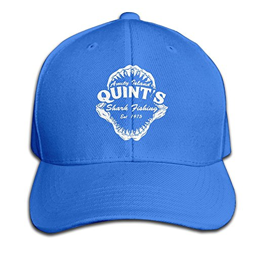 Jaws Quints Shark Fishing Unisex Outdoor Sports Hat RoyalBlue