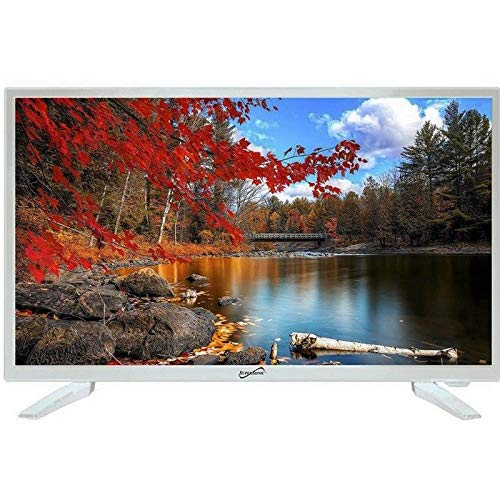 Supersonic SC-2211WH White AC/DC HDMI 1080p 22' LED Widescreen HDTV Television