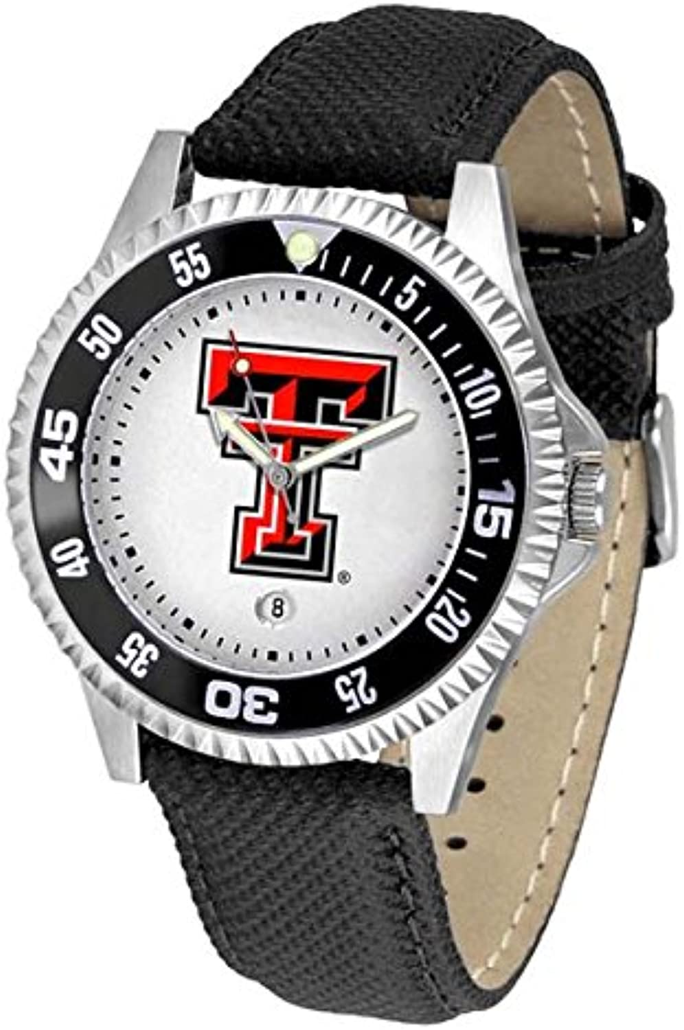 0c87b34b90ef Texas Tech rot Raiders Competitor Men's Watch by by by Suntime ...