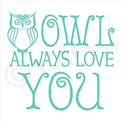Owl Always Love You Vinyl Lettering Wall Decal Sticker