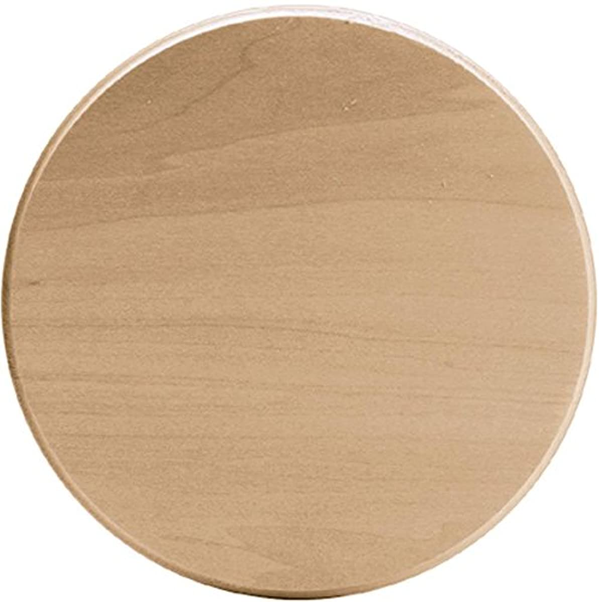 Walnut Hollow Basswood Circle Thin Plaque, 6 by 6-Inch