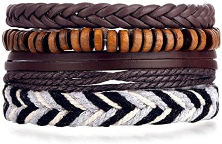 WMYDYBD 4 Pieces of Braided Multilayer Leather Max 56% OFF Special sale item Bracelet