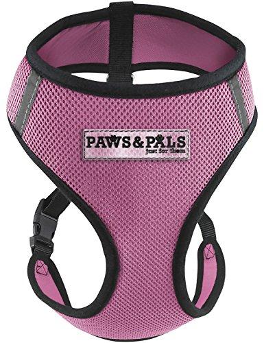 OxGord(オックスゴード) 犬用 首輪 ハーネス 猫 ペット 安全 コントロール 簡単 ソフト 散歩 引っ張り防止 - 小型犬から大型犬に対応 サービス車両用 シートベルト 安全ストラップ ベスト型 リード - 航空会社承認 - XL ピンク