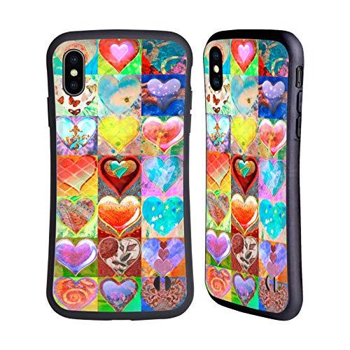 Officiële Aimee Stewart Hartjes raster Kleurrijke snoepjes Hybrid Case Compatibel voor Apple iPhone XS Max