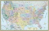 U.S. Map Poster (32 x 50 inches) - Laminated: - a QuickStudy Reference
